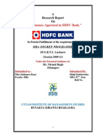 Project Report on Performance Apprasial of HDFC Bank Shipli Uttam Inst.