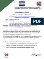 Dissemination Event Programme