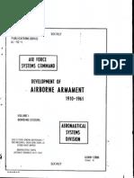 Development of Airborne Armament 1910-61 Bombing System