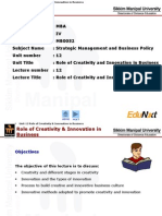Role of Creativity and Innovation in Business