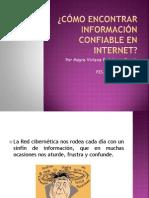 Confiabilidad Informacion Internet