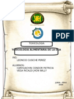 Toxicologia de La OCA