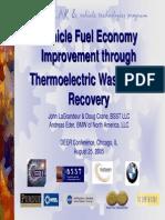BMW utili profili termici gas