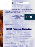 Thermoelectric Waste Heat Recovery