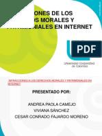 Presentaciónn Derechos Morales y Patrimoniales en Internet