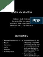 Word Categories