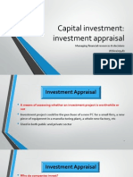 Capital Investment Appraisal Ppt