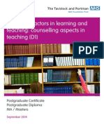 emotional factors learning  teaching counselling aspects teaching d1 - 2014