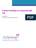 A Short Briefing on Corporate Gift Aid