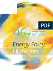 Energy Policy Highlights 2013