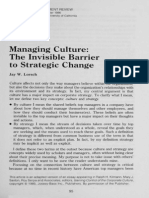 Managing Culture the Invisible Barrier to Strategic Change LorschJW
