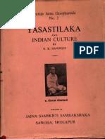 Yasastilaka and Indian Culture - K K Handiqui_Part1