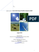 Renewable Energy Potential of Japan by 2020