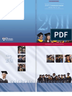 University of Pennsylvania 2011 Commencement Program