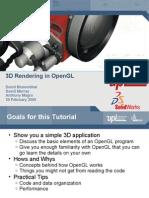 3D Rendering in OpenGL