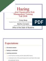 Hazing Workshop Presentation