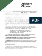 RTCA Document DO-160 Versions