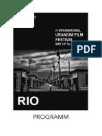 4th Rio de Janeiro Uranium Film Festival 2014 Program English