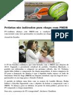 Petistas São Indicados Para Chapa Com PMDB