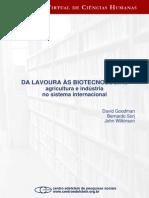 GOODMAN SORJ WILKINSON Da Lavoura as Biotecnologias
