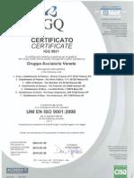 UNI en ISO 9001 Acciaierie Venete