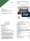 Spiro First United Methodist Church Worship Bulletin for November 8, 2009