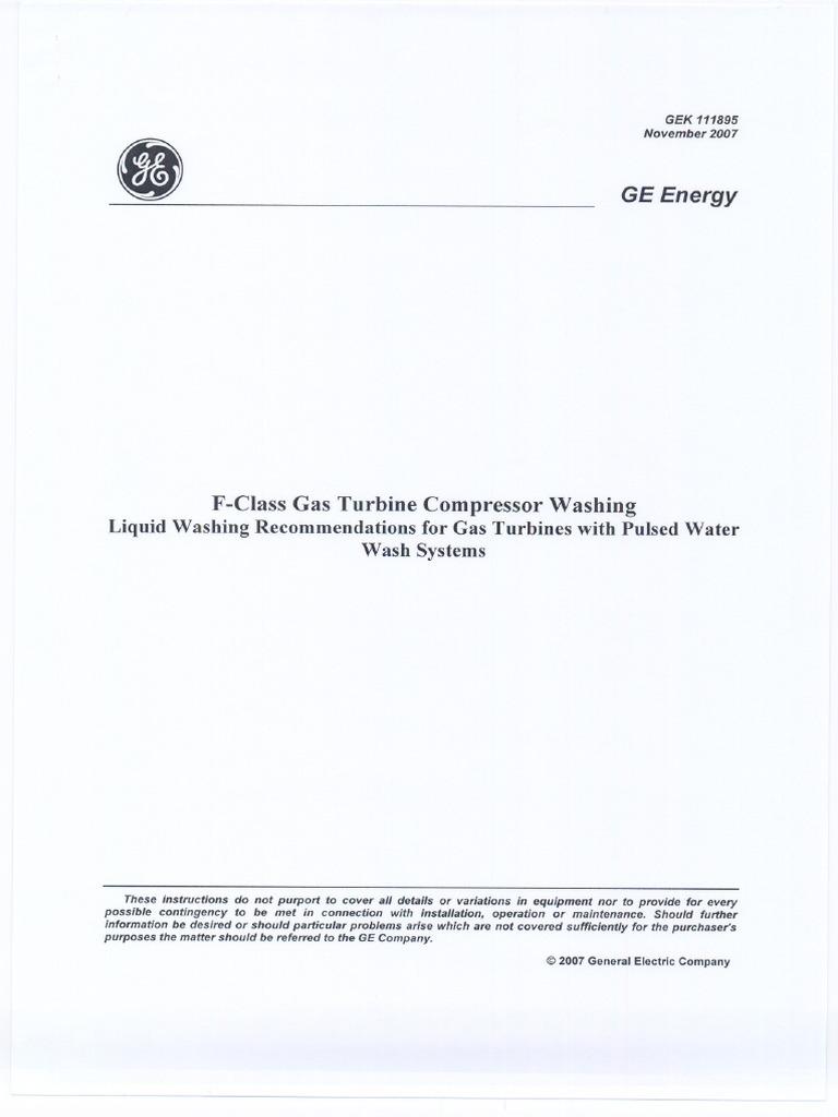 Ge F-class Gek111895 | Gas Turbine | Pump