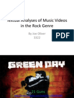 Textual Analyses of Music Videos in the Rock