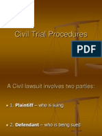 2  civil trial procedures