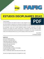 Estudos Disciplinares 2014-1