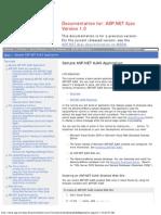 ASP.net Ajax Sample ASP.net Ajax Application