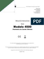 4500 Manual de Instrucciones