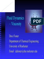 Fluid Dynamics Viscosity