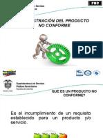 Producto No Conforme Marzo 2012