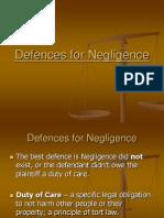 5  defences for negligence