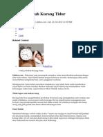 5 Sinyal Tubuh Kurang Tidur