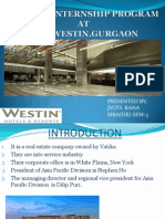 Summer Internship Program at the Westin,Gurgaon