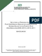 Guia Para La Preparacion Del Plan Comprensivo Escolar 2009
