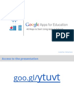 40 Ways to Use Google Apps in the Classroom