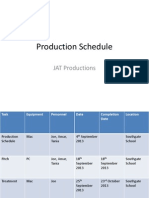 JAT Production Schedule