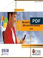 01 Microsoft Exchange Server 2003 and Active Directory