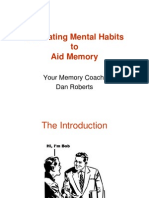 Memory Coaching Session 1
