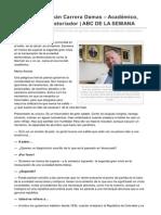 Abcdelasemana.com-El ABC de Germn Carrera Damas Acadmico Diplomtico Historiador ABC de LA SEMANA