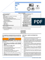 USER'S INFORMATION, MAINTENANCE AND