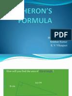 Heron's Formula(Krishan Kumar Kvvp