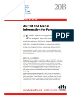 WWK20B ADHD and Teens Information for Parents
