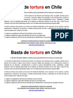 Basta de Tortura en Chile - Folleto