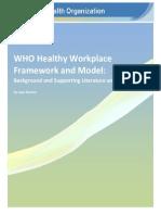Healthy Workplace Framework