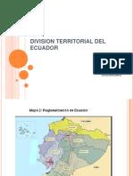 Division Territorial Del Ecuador