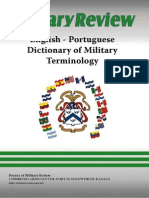 English Portuguese Dictionary of Military Terminology